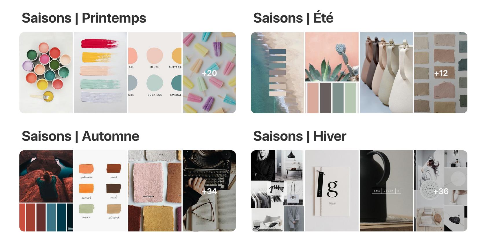 Pinterest - Psychologie des couleurs